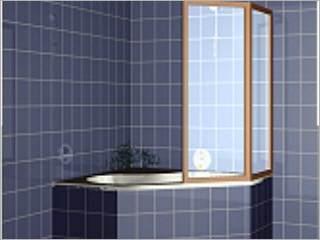 Eckbadewanne mit dusche  Eckbadewanne 120 x 120 R Eckwanne weiß